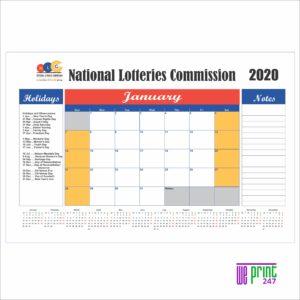 deskpad calendar printing johannesburg